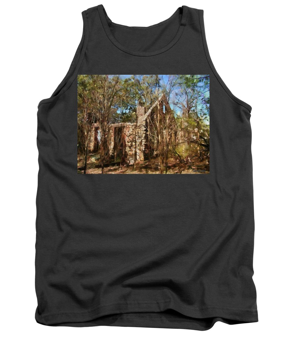 Abandon Tank Top featuring the painting Forgotten by Jeffrey Kolker
