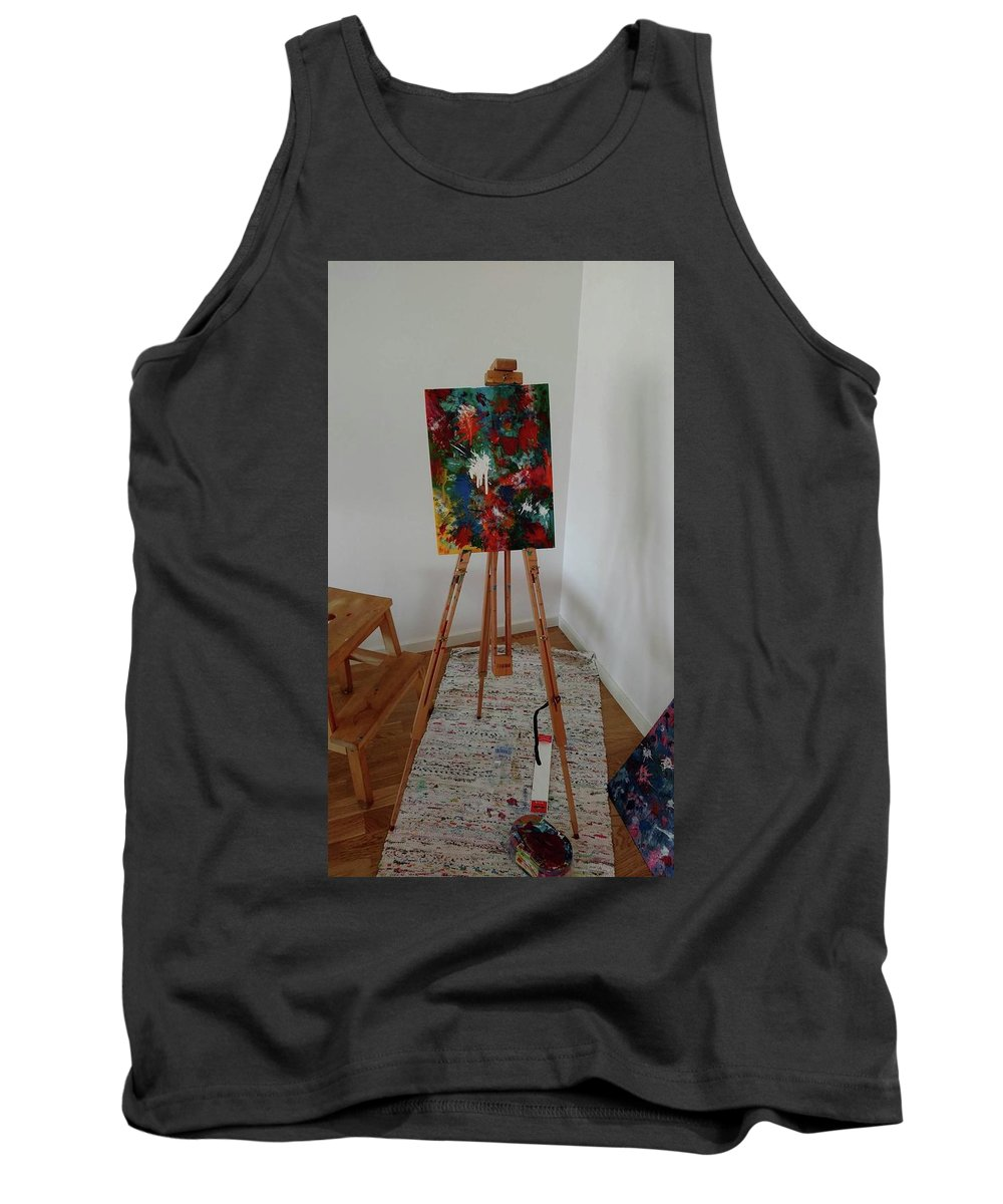 Acryllics Tank Top featuring the painting Forrest Colors by Liza Anzen