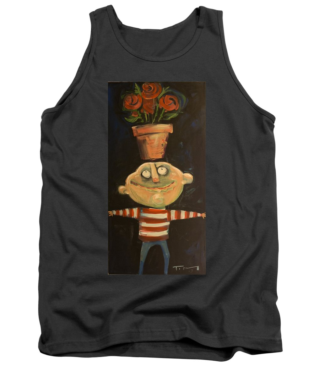 Man Tank Top featuring the painting Forrest The Florist by Tim Nyberg