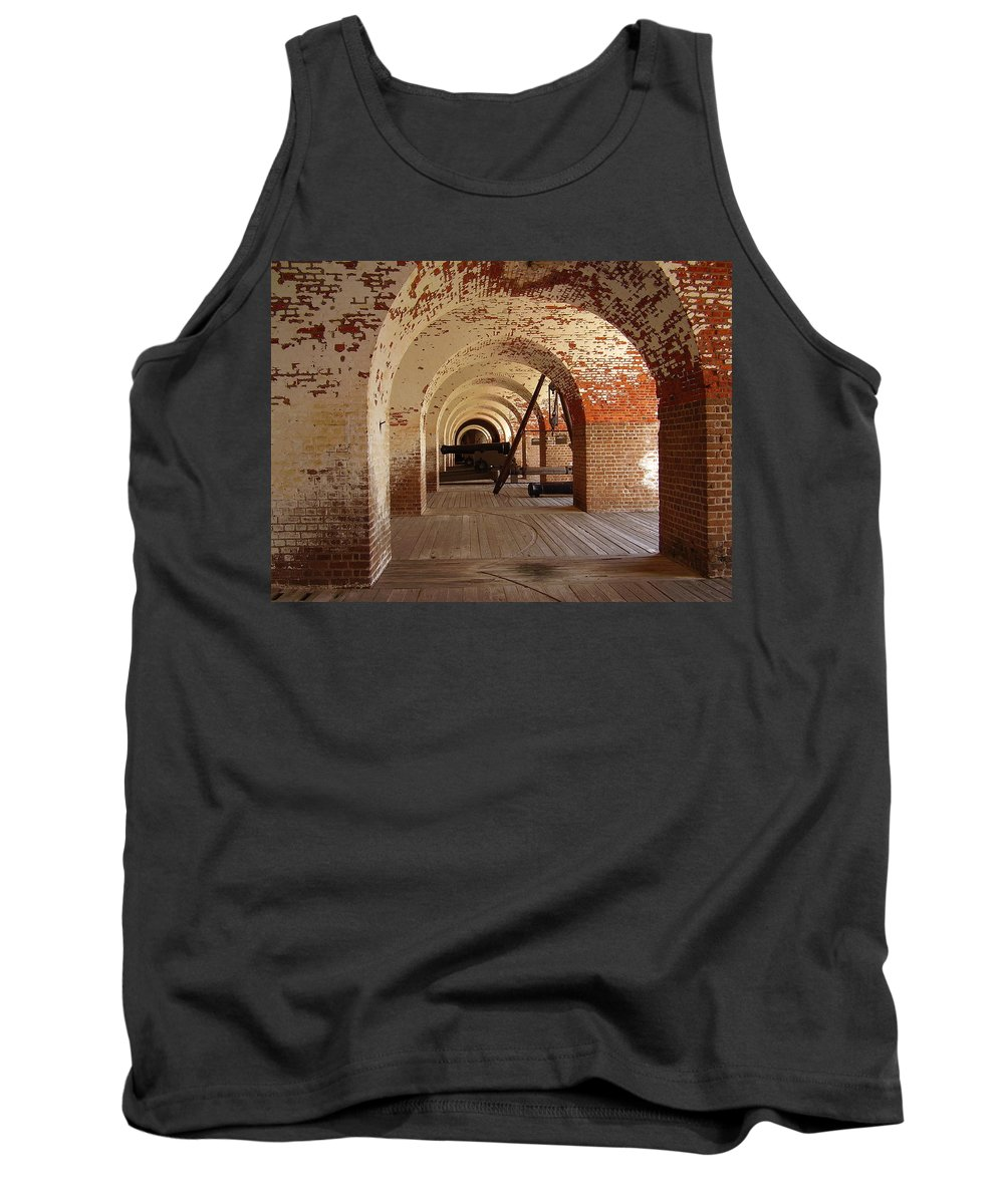 Fort Pulaski Tank Top featuring the photograph Fort Pulaski II by Flavia Westerwelle