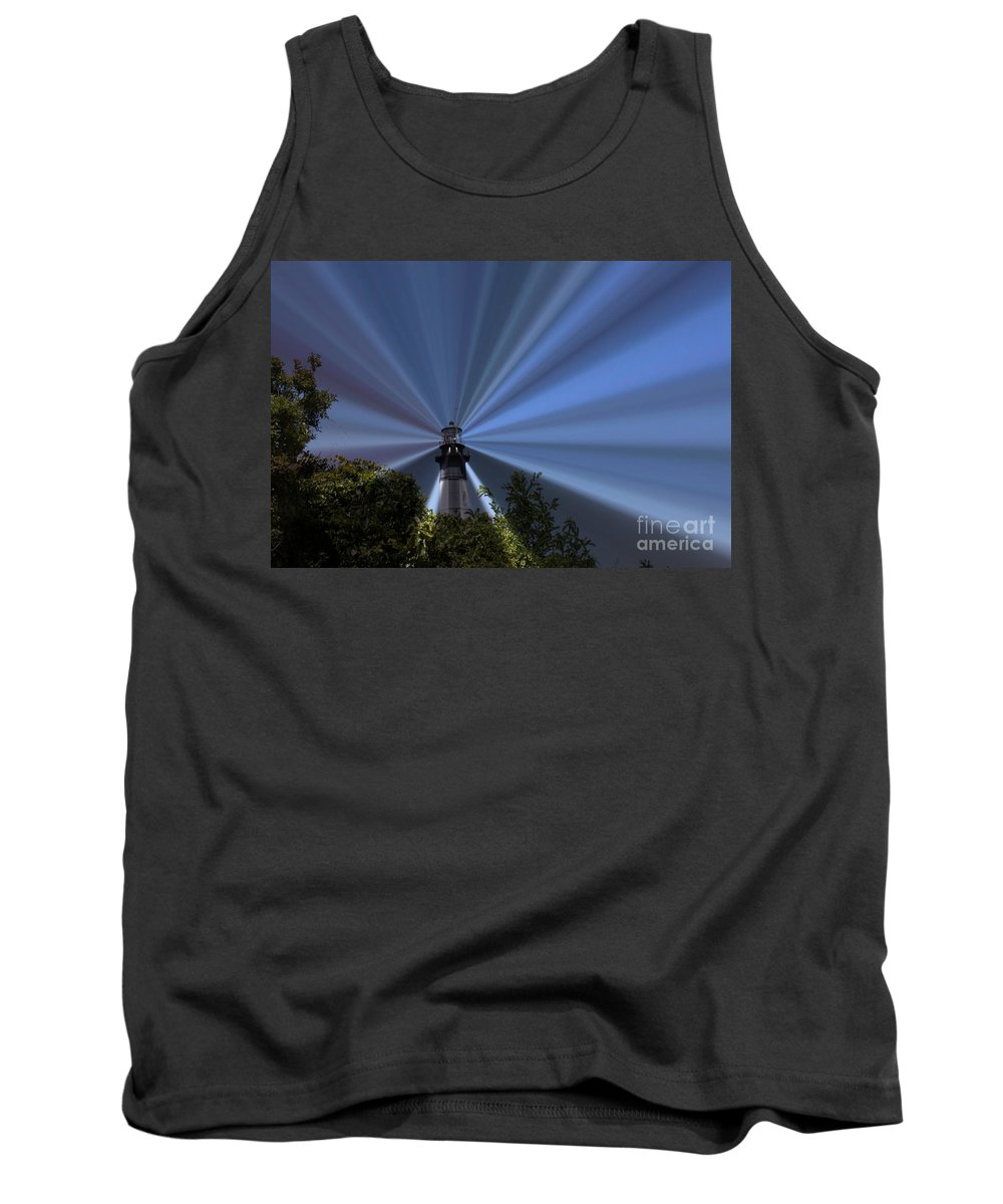 Lighthouse Tank Top featuring the photograph Fort Story Lighthouse by Carol Turner