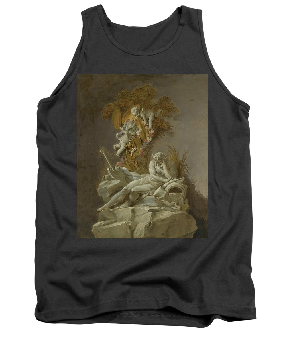 French Artist Tank Top featuring the painting Fountain Study I by Francois Boucher