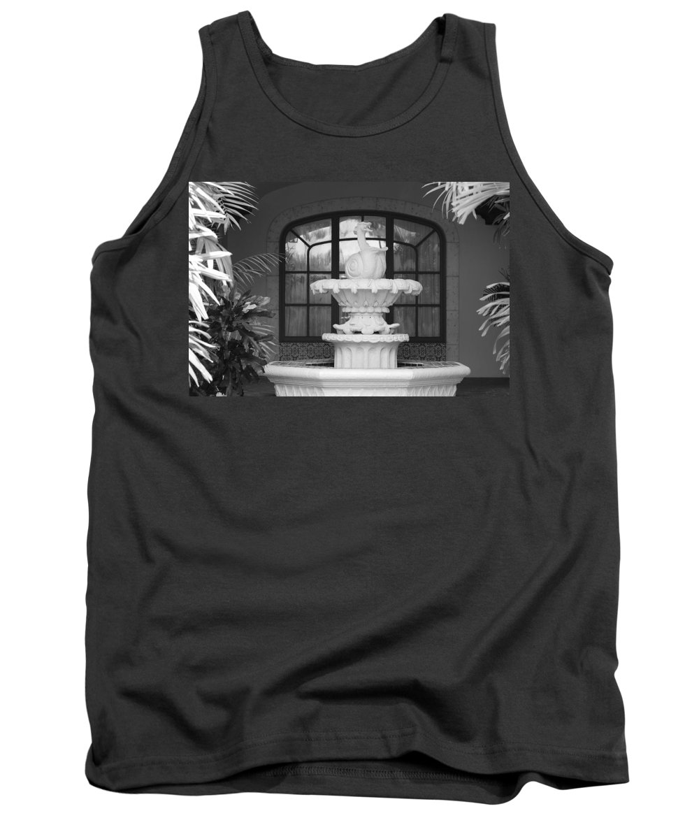 Architecture Tank Top featuring the photograph Fountian And Window by Rob Hans