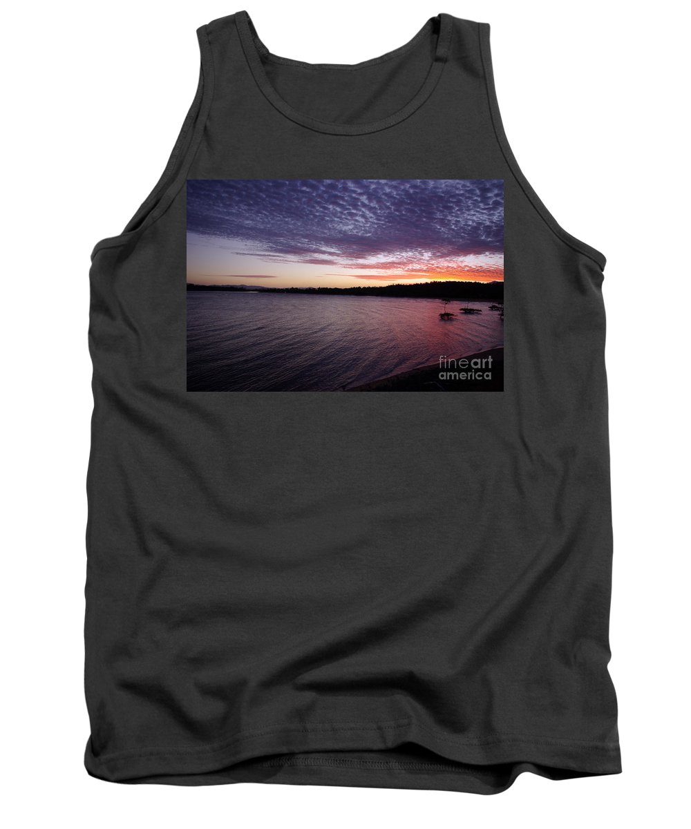 Landscape Tank Top featuring the photograph Four Elements Sunset Sequence 4 Coconuts Qld by Kerryn Madsen- Pietsch