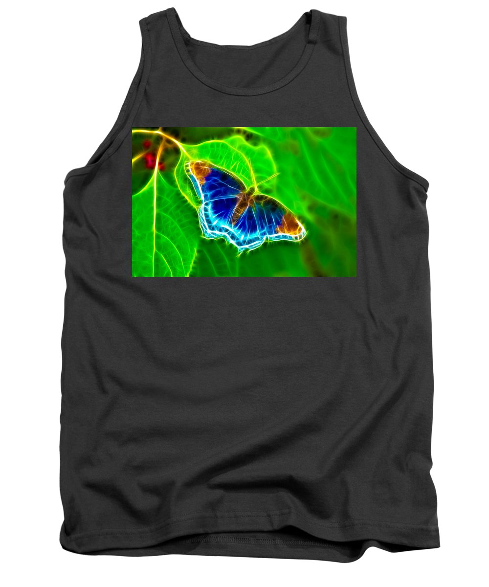 Butterfly Tank Top featuring the photograph Fractal Butterfly by Rich Leighton
