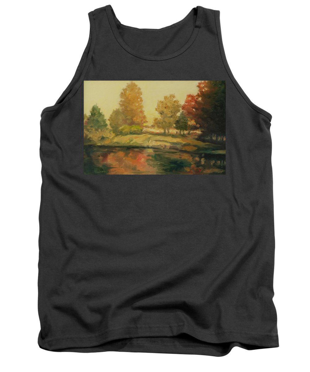Trees Tank Top featuring the painting France I by Rick Nederlof
