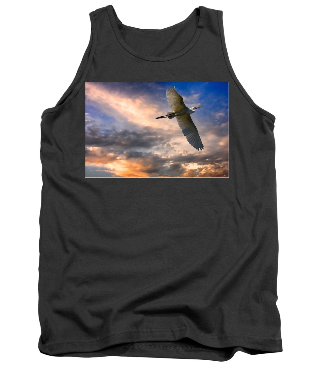 Egret Tank Top featuring the photograph Freedom by Chris Lord