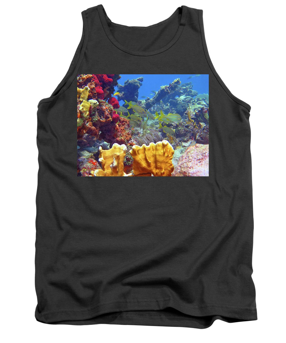 Underwater Tank Top featuring the photograph French Reef 1 by Daryl Duda
