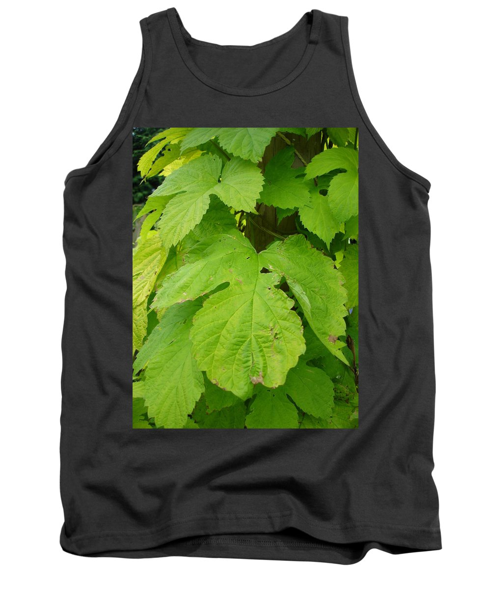 Hop Tank Top featuring the photograph Fresh English Golden Hop by Susan Baker