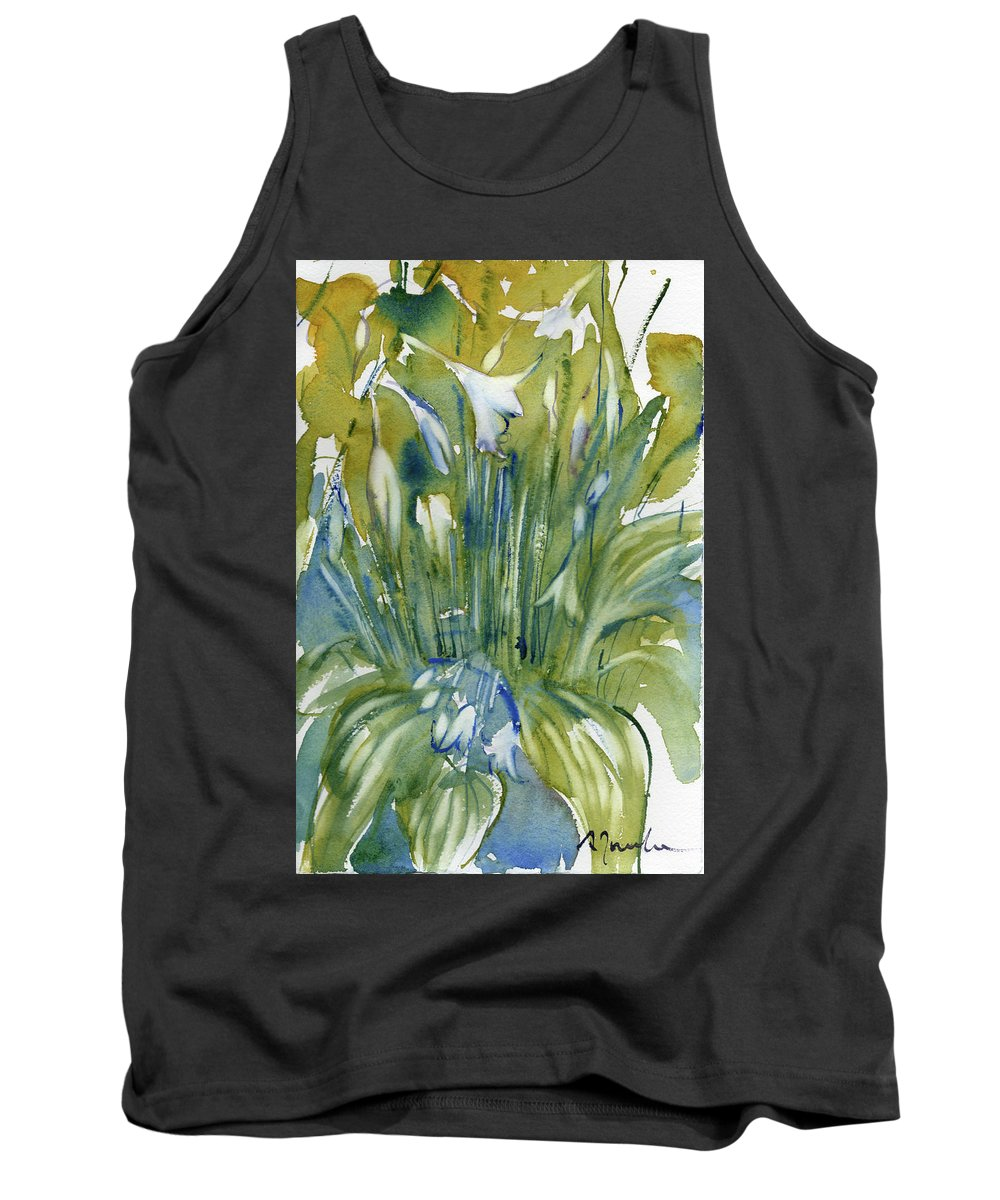 Flower Tank Top featuring the painting Fresh Pick No.79 by Sumiyo Toribe