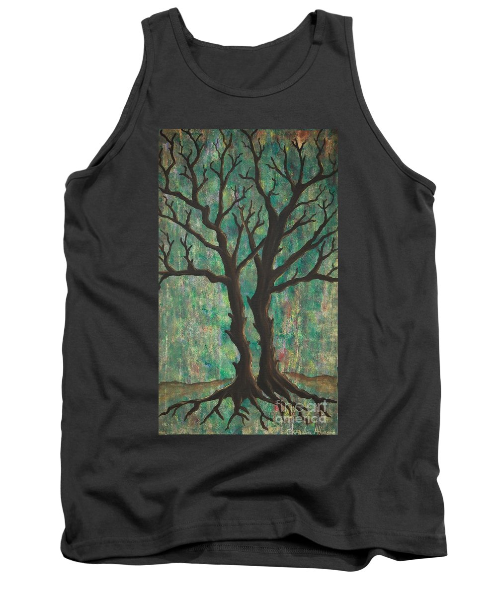 Trees Tank Top featuring the painting Friends by Jacqueline Athmann