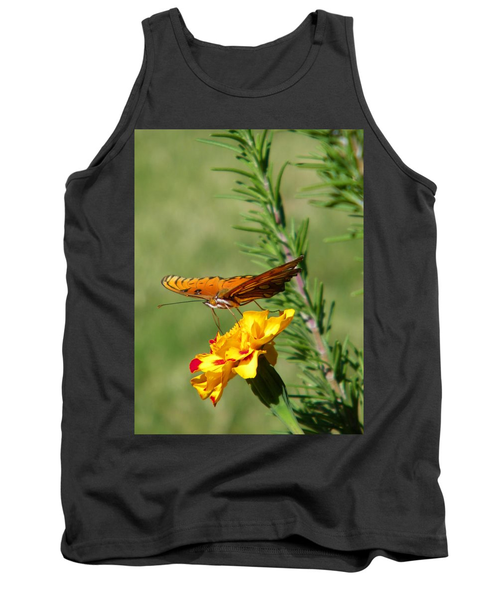Fritillary Tank Top featuring the photograph Fritillary Flitterby by Gale Cochran-Smith