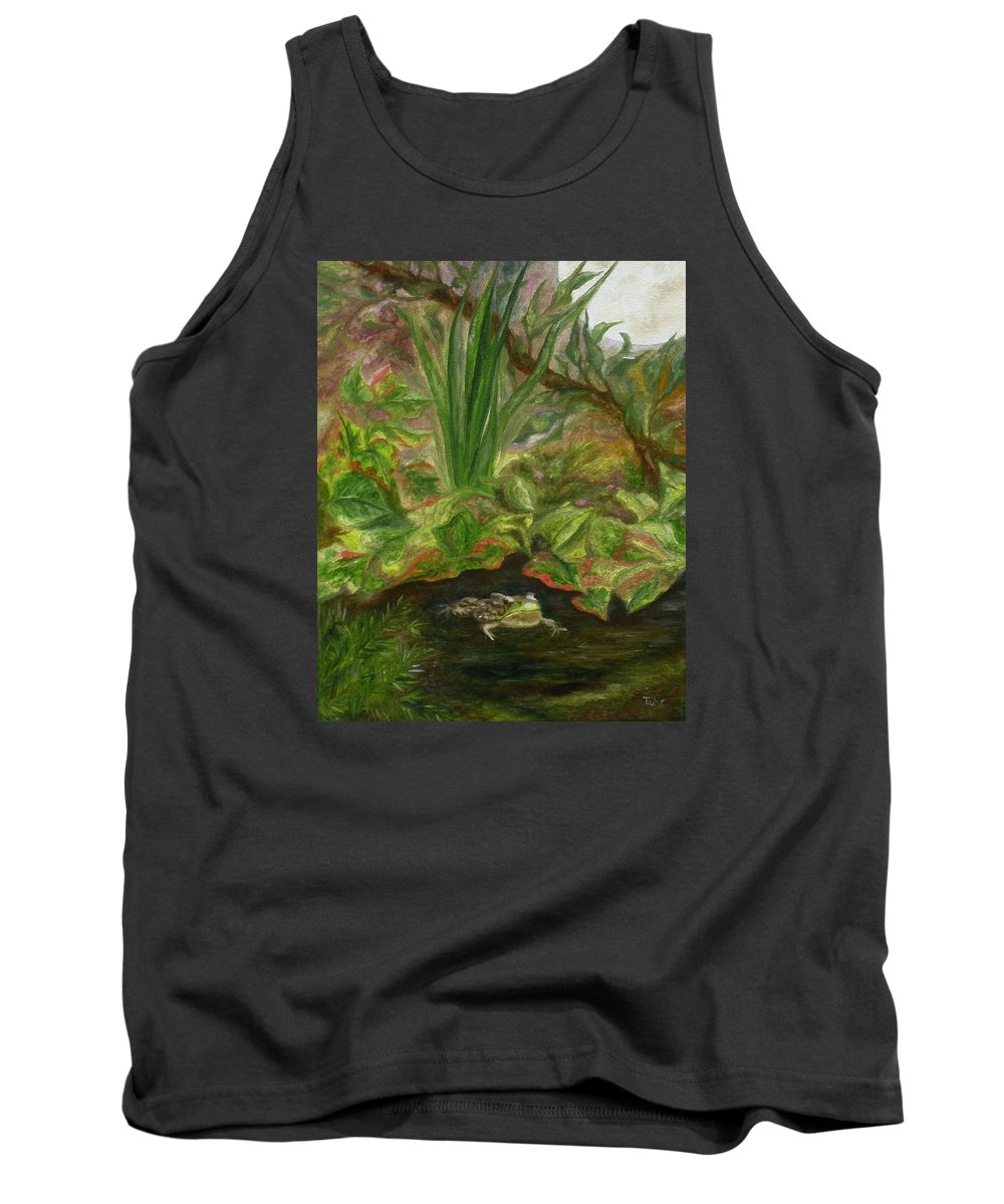 Amphibian Tank Top featuring the painting Frog Medicine by FT McKinstry