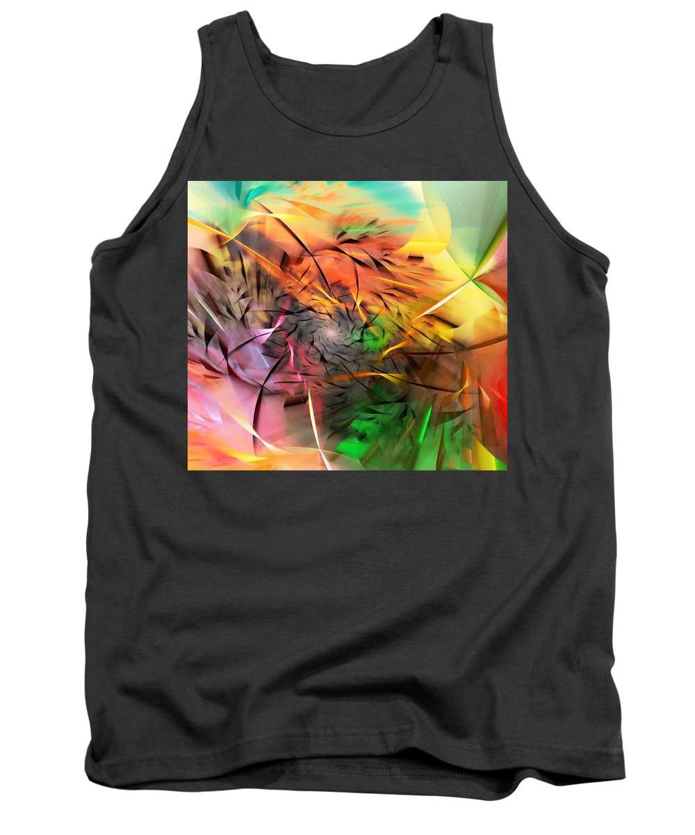 Digital Painting Tank Top featuring the digital art From Both Sides Now by David Lane