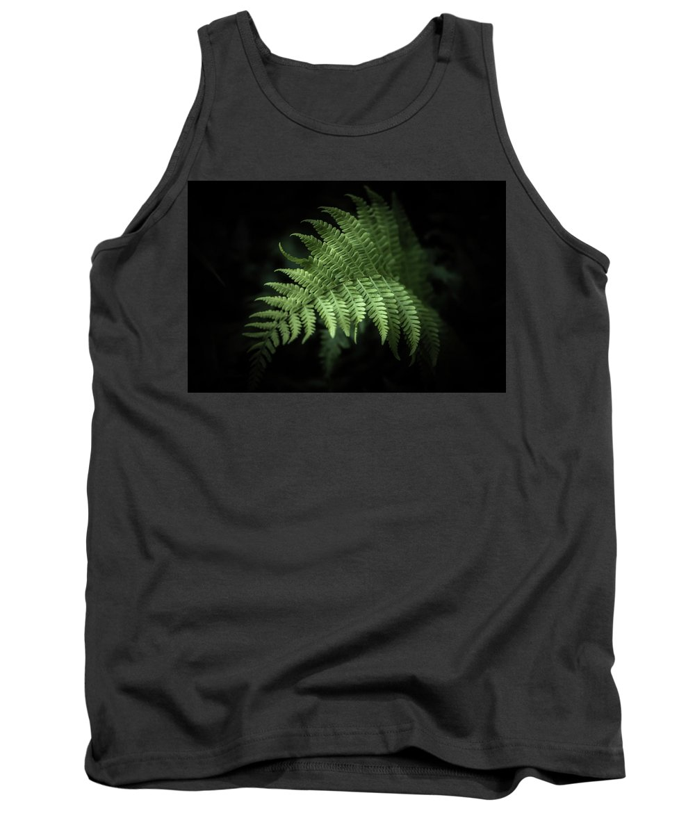 Fern Tank Top featuring the photograph From The Shadows by Patricia Mast