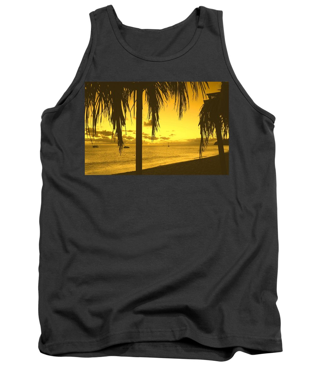 Sunset Tank Top featuring the photograph From The Shiggady Shack by Ian MacDonald