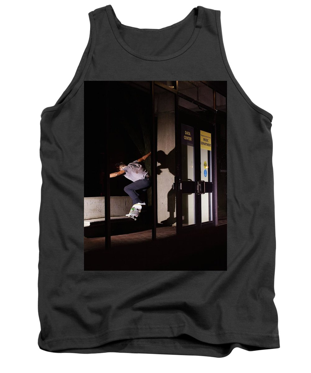 Skate Tank Top featuring the photograph Front Crook Reflection by Jordan Mayle