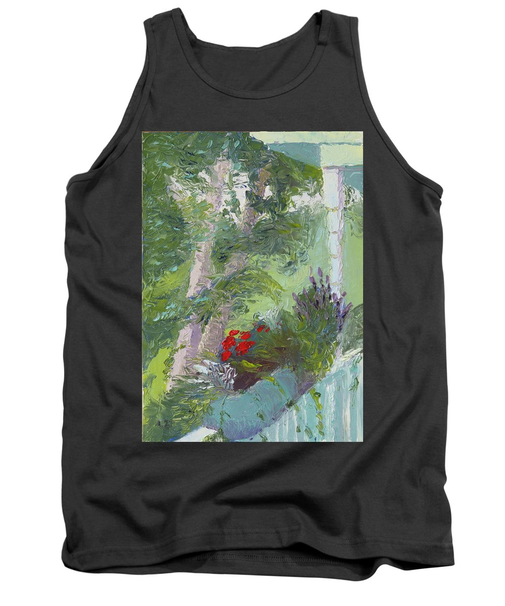 Porch Painting Tank Top featuring the painting Front Porch View by Lea Novak