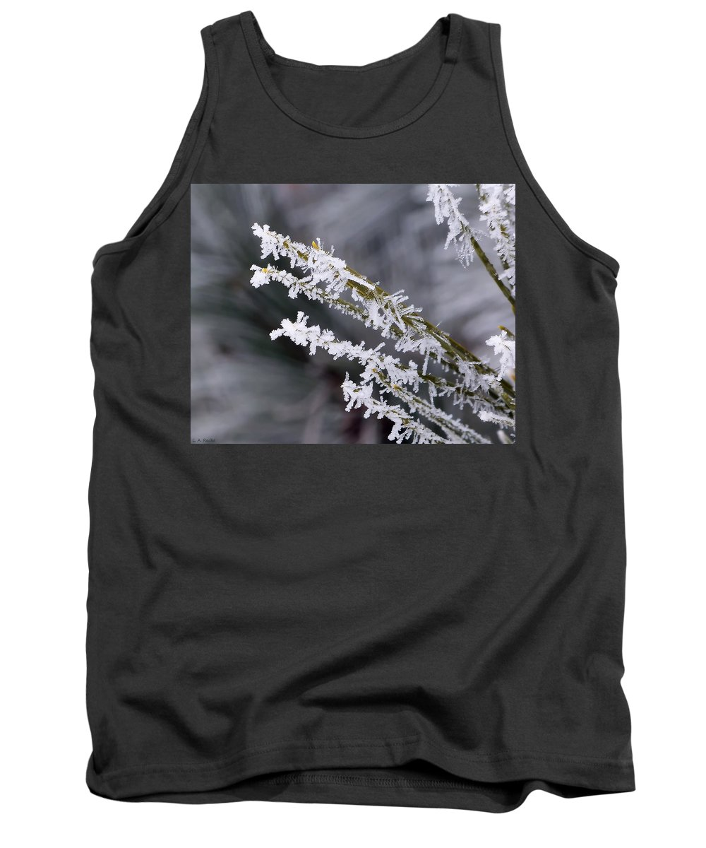 Macro Tank Top featuring the photograph Frost by Lauren Radke