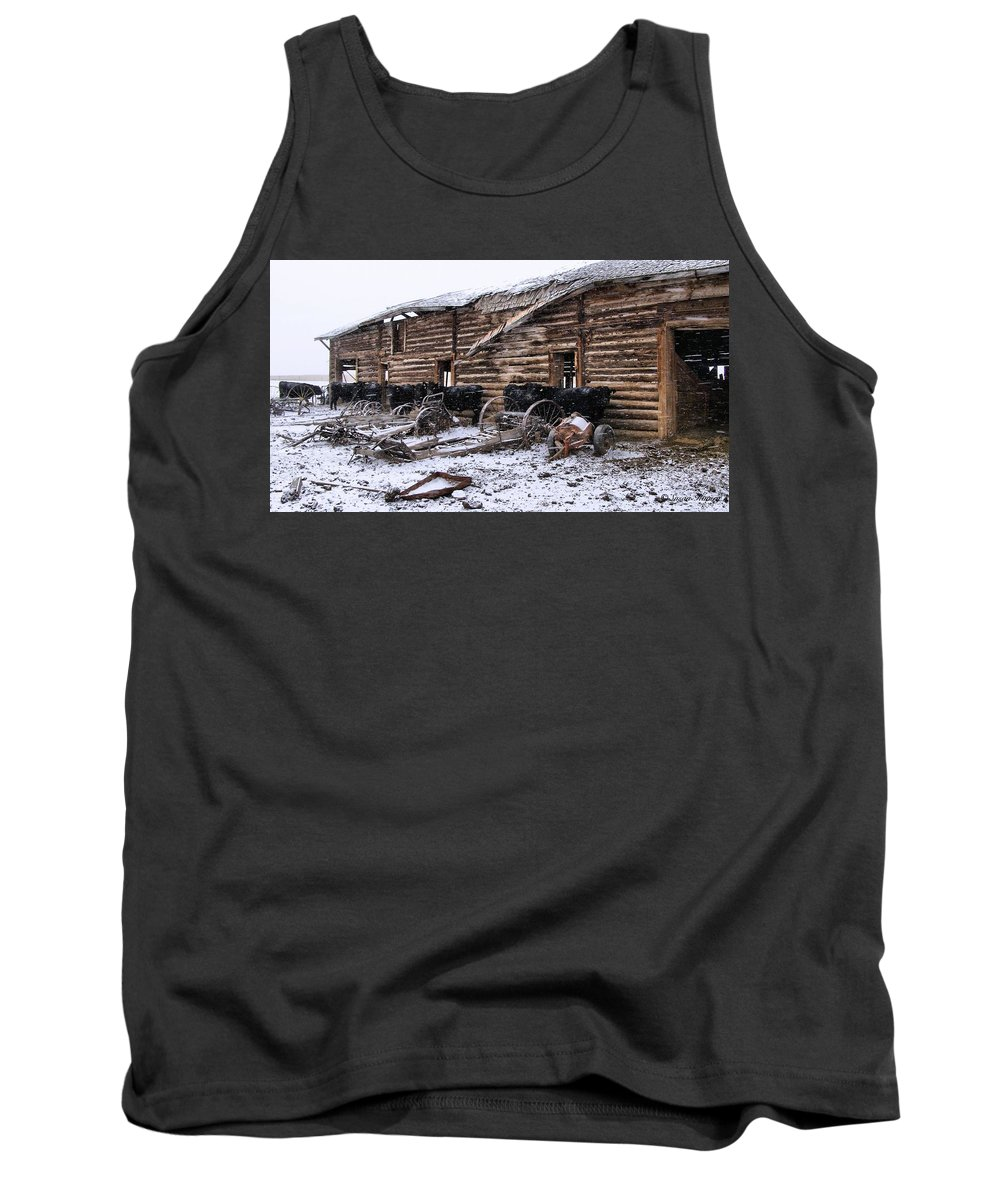 Cattle Tank Top featuring the photograph Frozen Beef by Susan Kinney