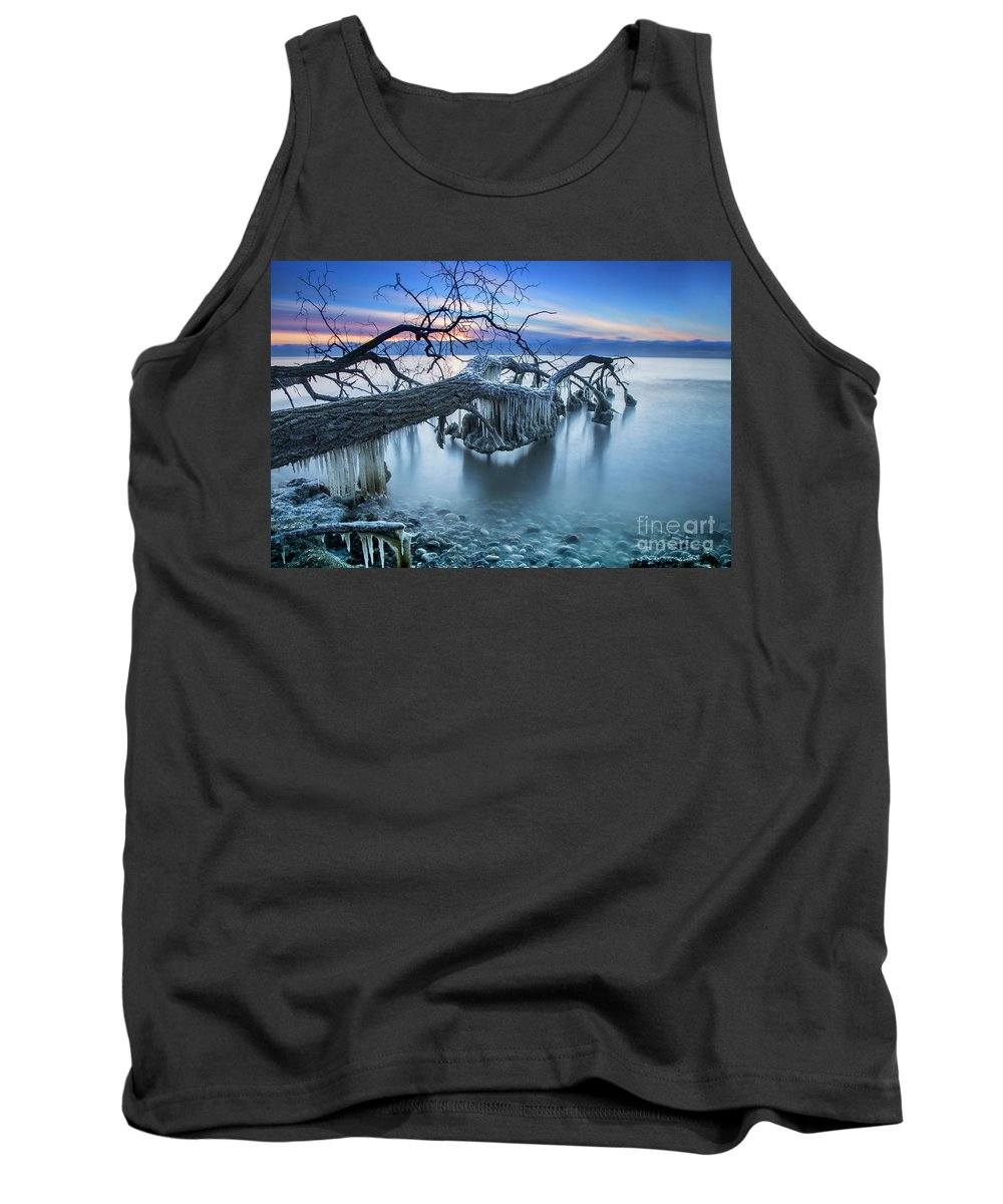 Icicles Tank Top featuring the photograph Frozen Morning 2 by Randy Kostichka