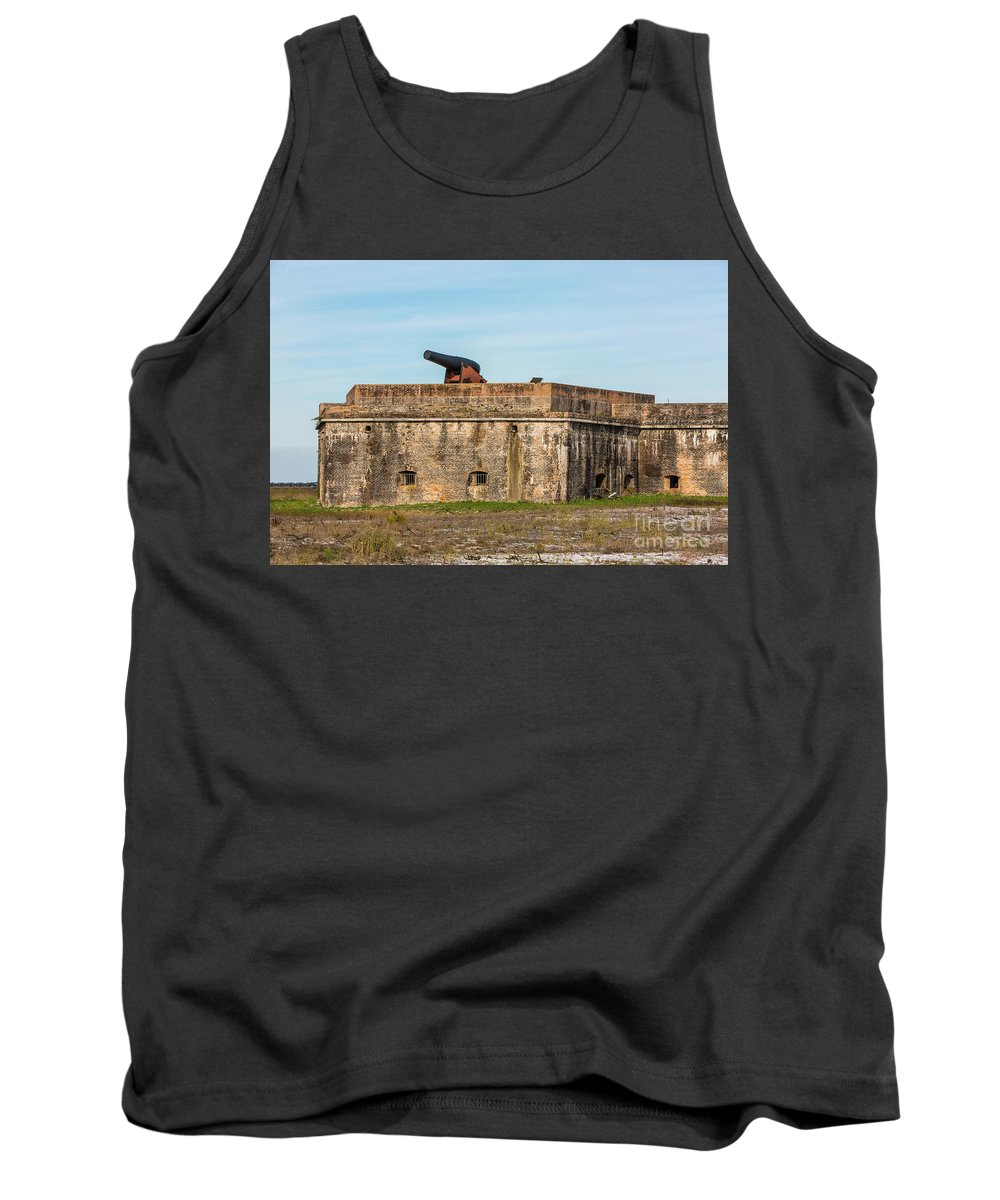 Ft Pickens Tank Top featuring the photograph Ft. Pickens Gulf Islands National Seashore by Rodney Cammauf