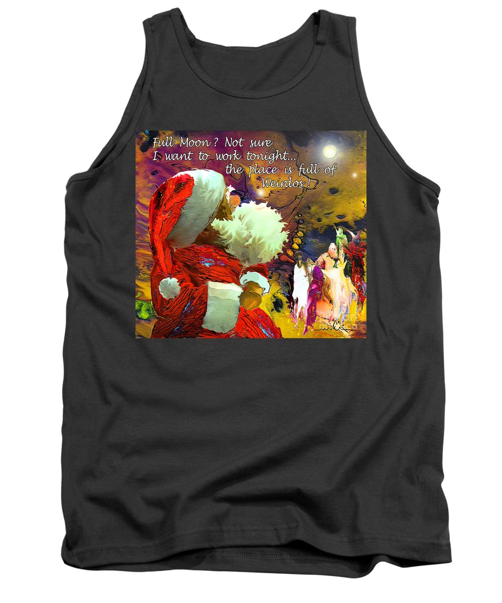 Fantasy Painting Tank Top featuring the painting Full Moon by Miki De Goodaboom
