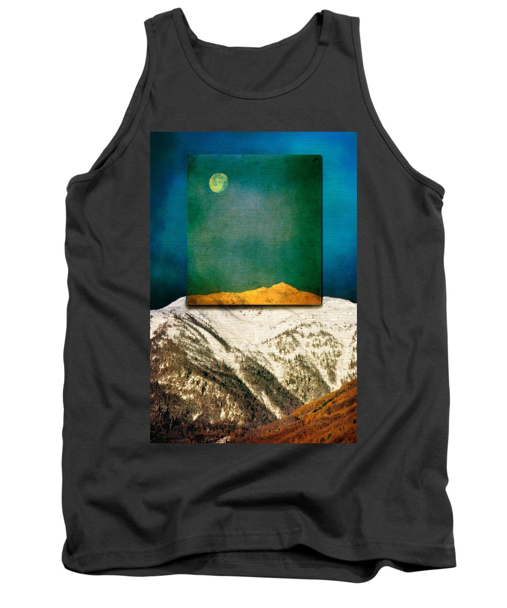 Moon Tank Top featuring the photograph Full Moon by Silvia Ganora