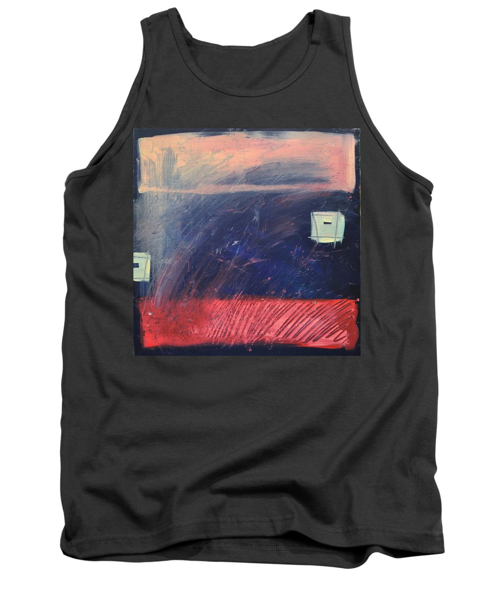 Red Tank Top featuring the painting Fyr Bal by Tim Nyberg