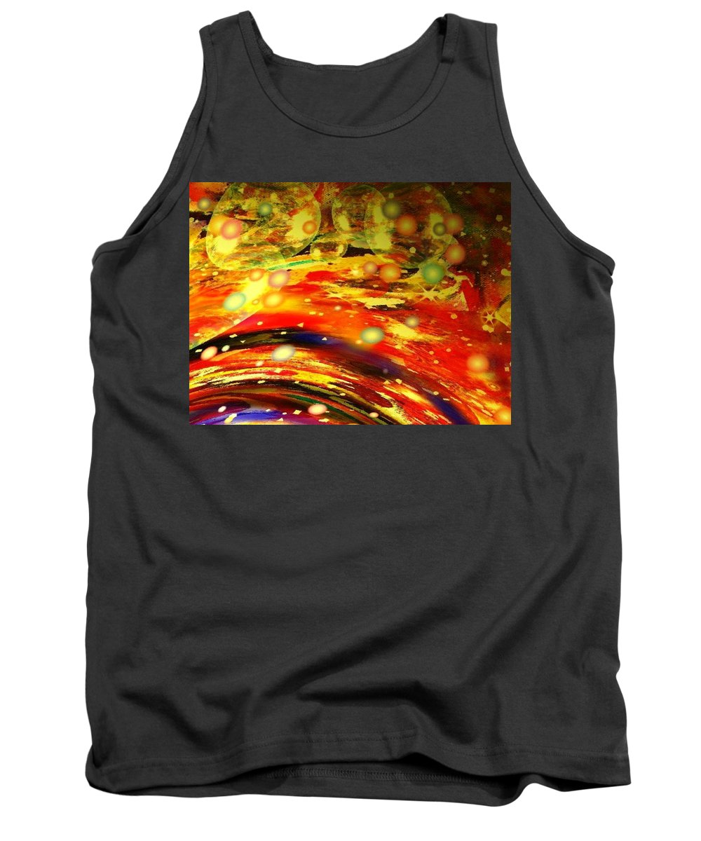 Galaxy Tank Top featuring the digital art Galaxy by Natalie Holland