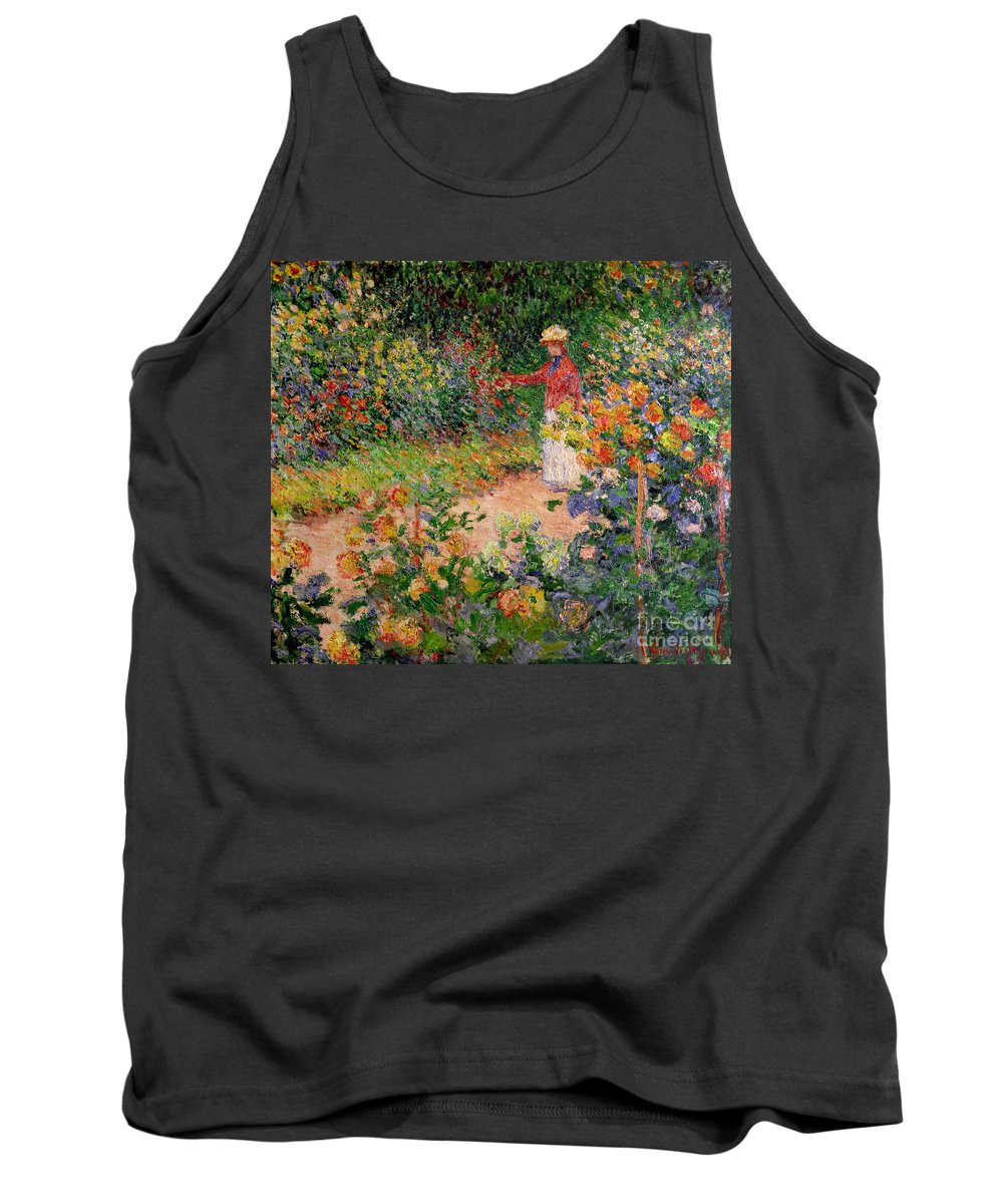 Garden At Giverny Tank Top featuring the painting Garden At Giverny by Claude Monet