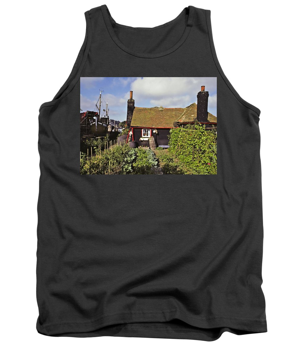 Seaside Tank Top featuring the photograph Garden By The Sea by Stephen Anderson