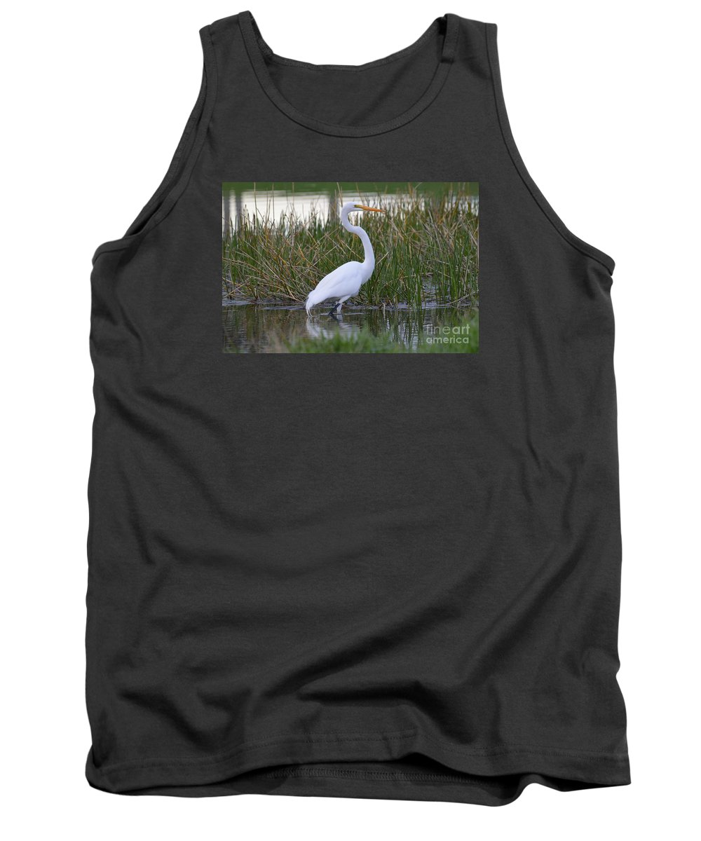 Tank Top featuring the photograph Garza Blanca by Lenin Caraballo