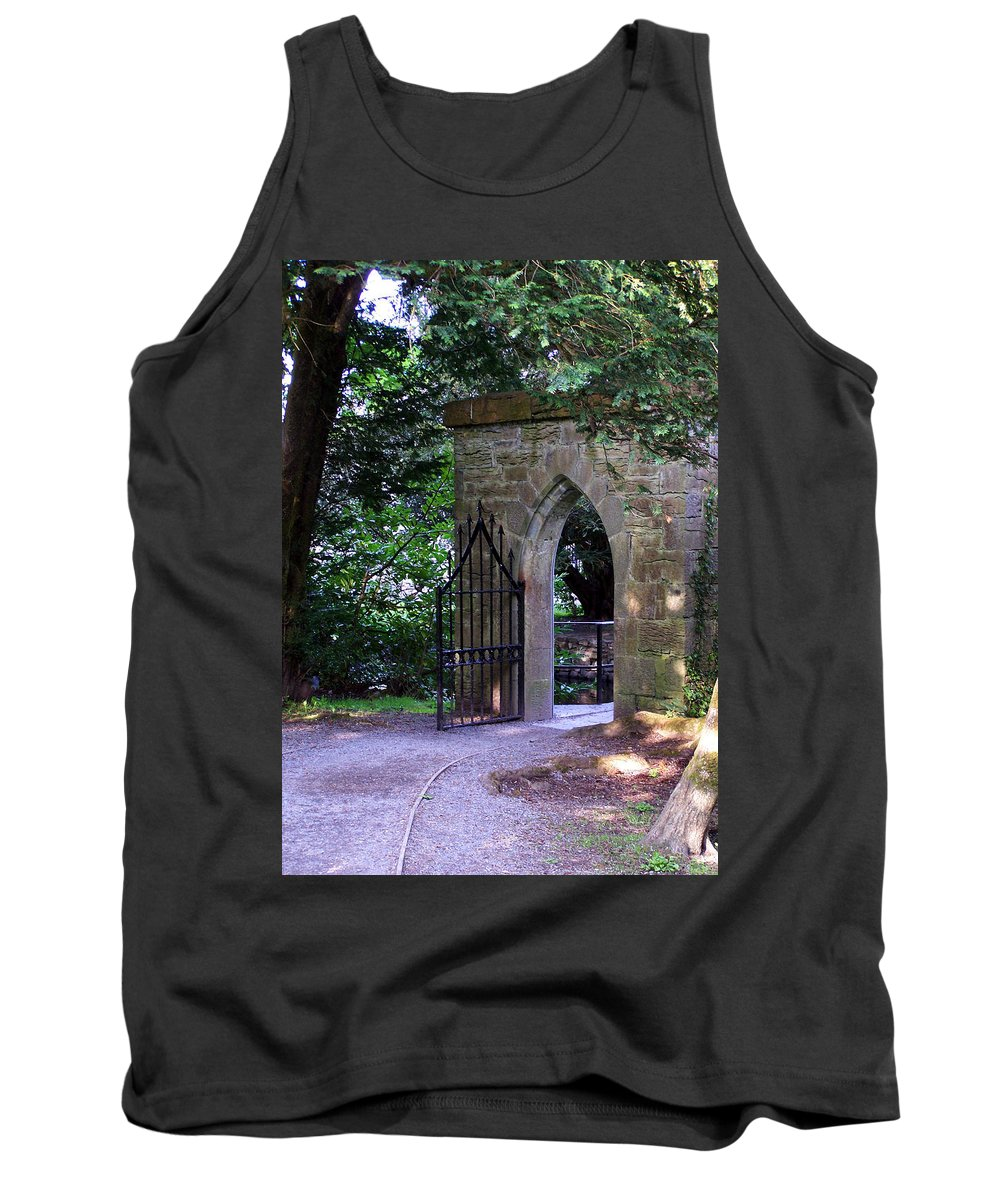 Irish Tank Top featuring the photograph Gate At Cong Abbey Cong Ireland by Teresa Mucha
