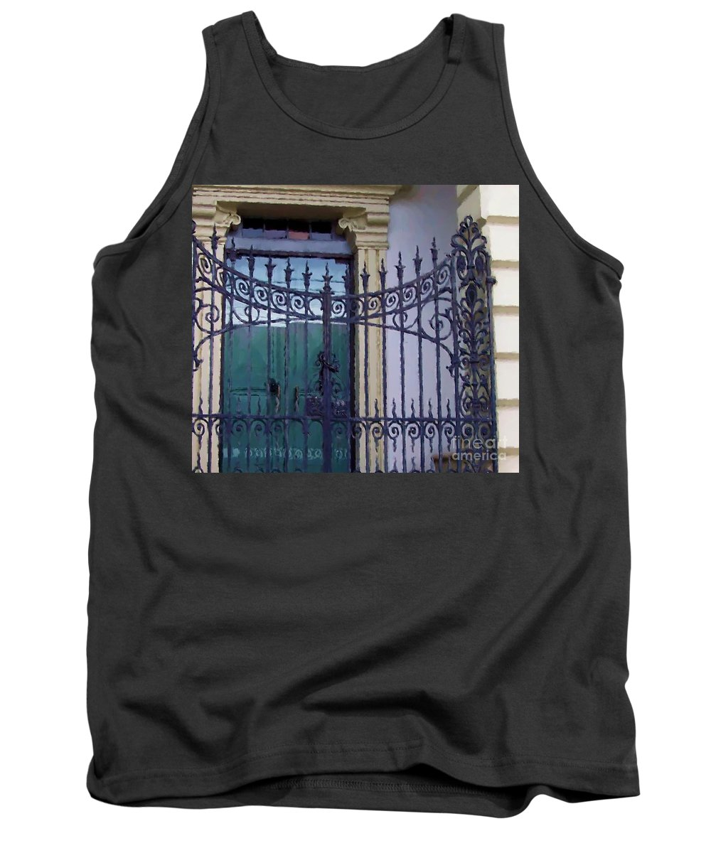 Gate Tank Top featuring the photograph Gated by Debbi Granruth
