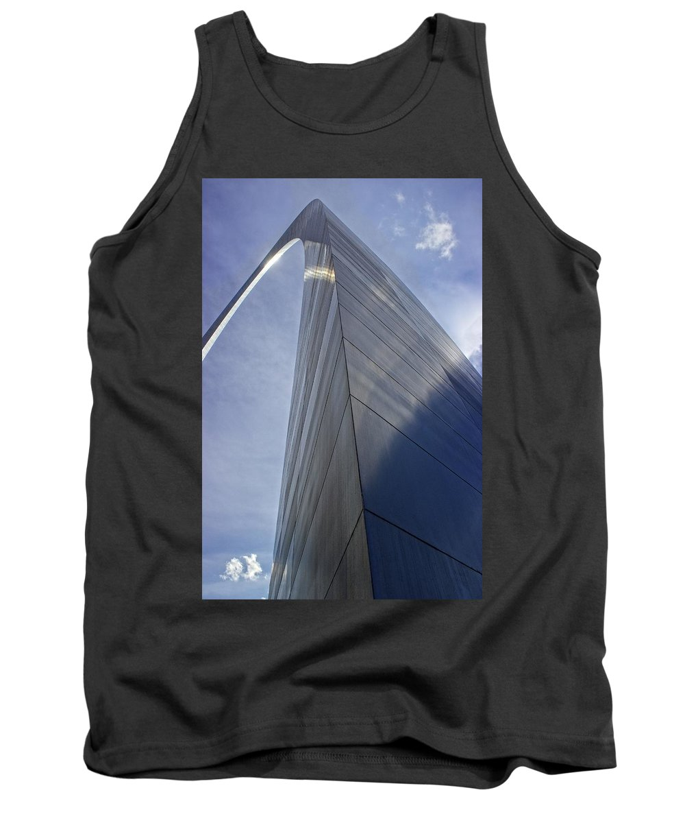 Saint Louis Missouri Tank Top featuring the photograph Gateway Arch Opus 6 by Fred Hahn