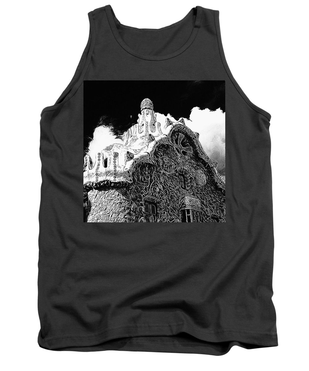 Gaudi House Tank Top featuring the photograph Gaudi House by Mark J Dunn
