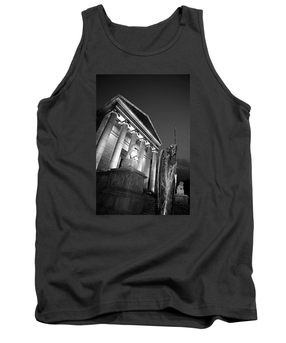 Black And White Tank Top featuring the photograph Gaurdian by Alvin Sangma