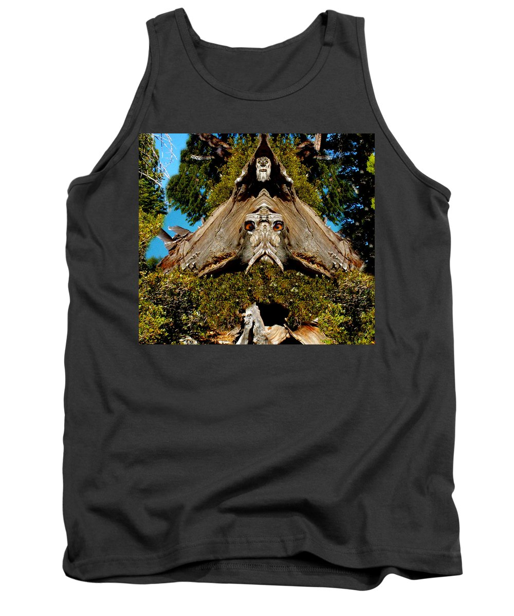 Fantasy Tank Top featuring the photograph Gaurdian Of The Woods by Bob Welch