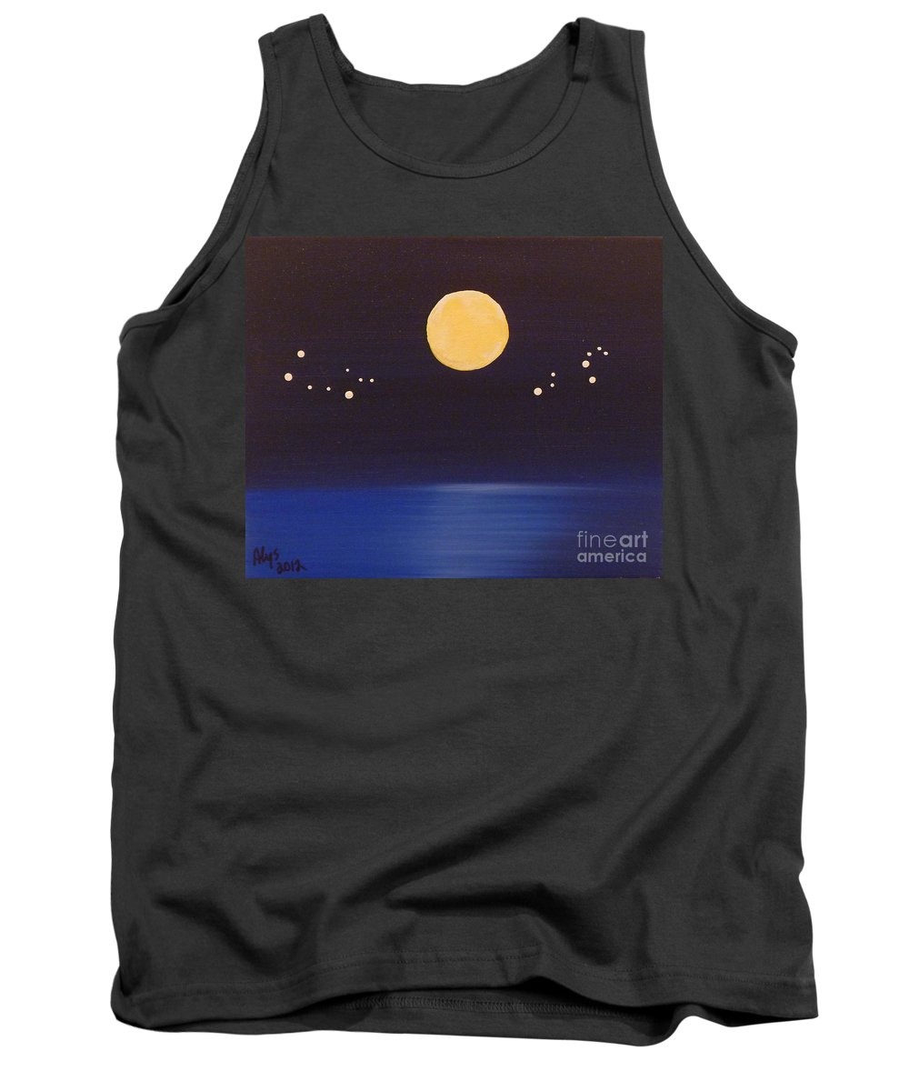 Gemini Tank Top featuring the painting Gemini And Leo by Alys Caviness-Gober