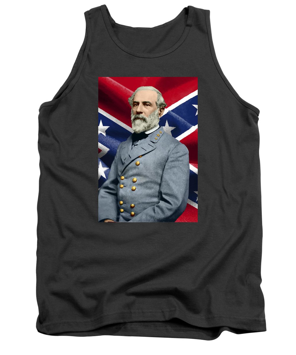 Tank Top featuring the painting General Robert E. Lee by William Mace
