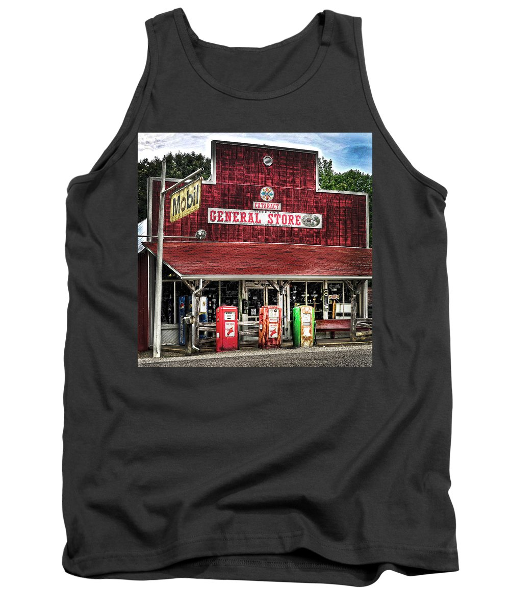 Built 1860 Tank Top featuring the photograph General Store Cataract In. by Randall Branham