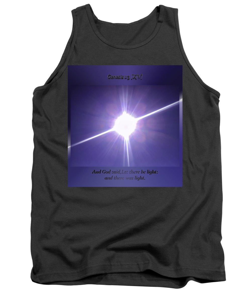 Genesis Tank Top featuring the photograph Genesis Sun Burst by Brian Williams