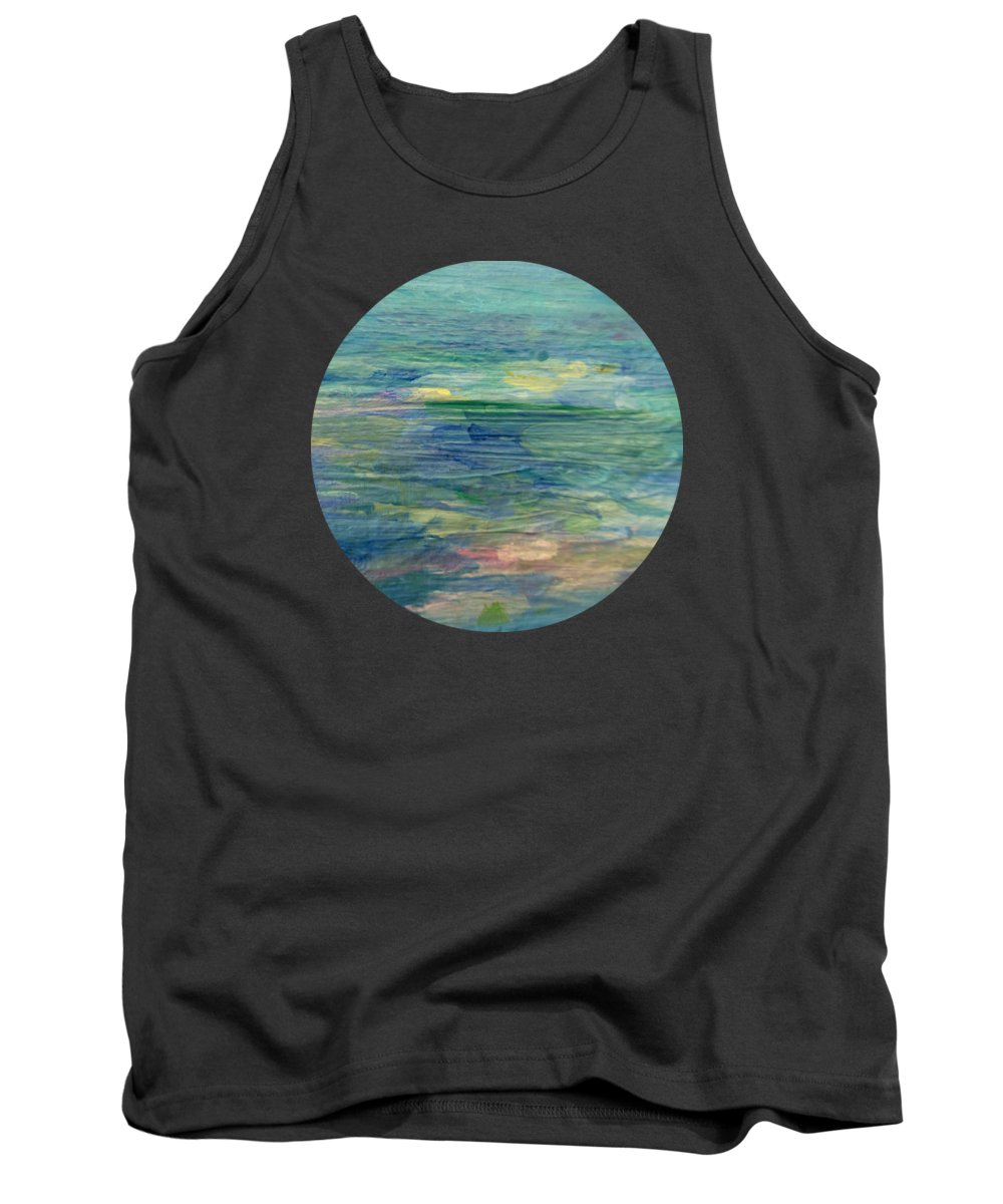 Water Art Tank Top featuring the painting Gentle Light On The Water by Mary Wolf
