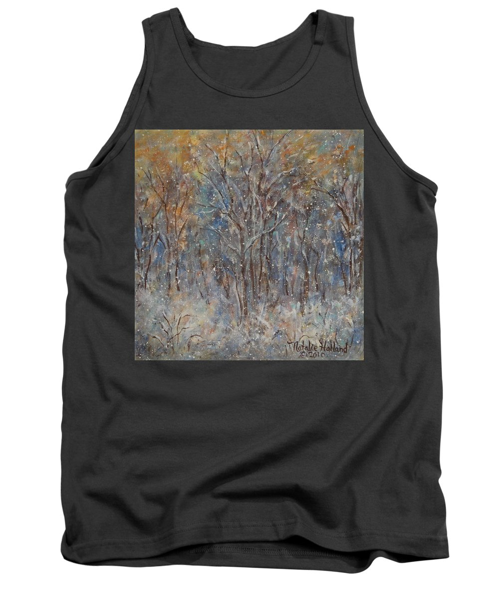 Art Around The World Project Tank Top featuring the painting Gentle Snow by Natalie Holland