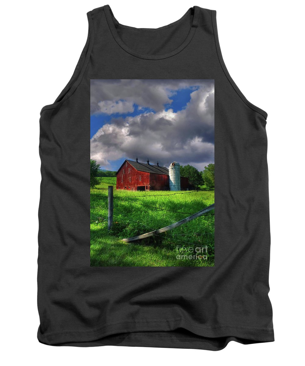 Landscape Tank Top featuring the photograph Gentle Summer by Lois Bryan