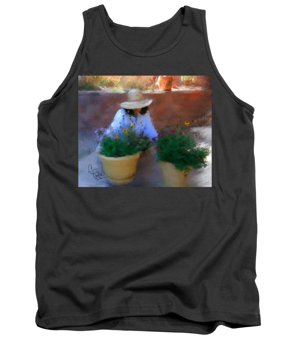 Woman Tank Top featuring the painting Gently Does It by Colleen Taylor