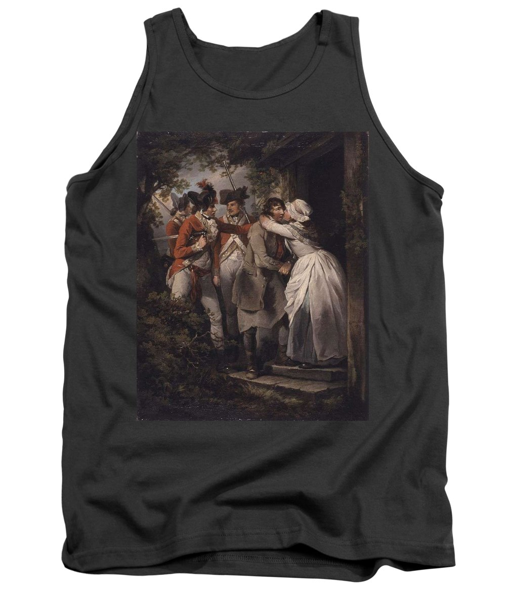 Man Tank Top featuring the painting George Morland  The Deserters Farewell by George Morland