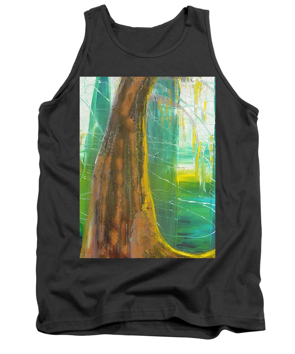 Landscape Tank Top featuring the painting Georgia Morning by Peggy Blood