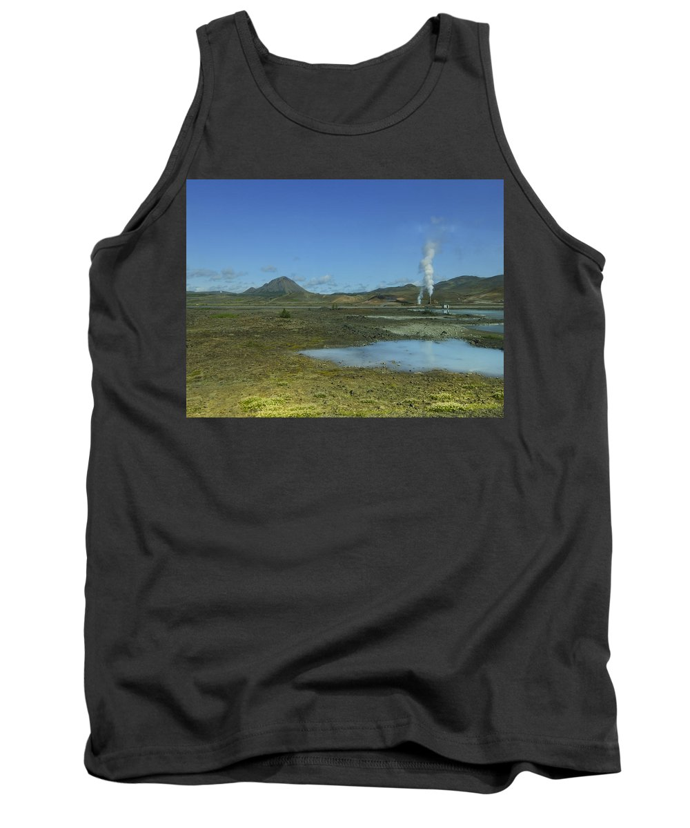 Iceland Tank Top featuring the photograph Geothermal Power Station Iceland by Elizabetha Fox